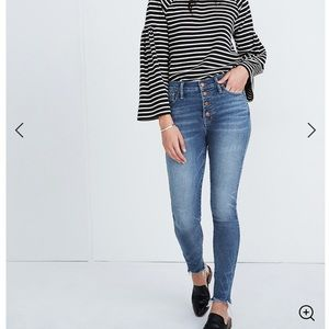 "NWT Madewell 10"" High-Rise Skinny Jeans 25"